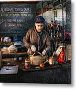 Bazaar - We Sell Tomato Sauce  Metal Print by Mike Savad