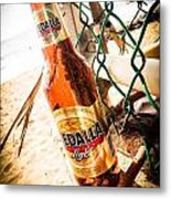 Beach Beer Metal Print by Loretta Cassiano