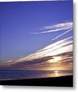Beach Blue Sunset Metal Print by Barbara St Jean