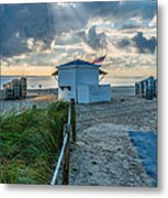 Beach Entrance To Old Glory Metal Print by Ian Monk