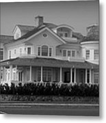 Beach House In Spring Lake - Jersey Shore Metal Print by Angie Tirado