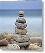 Beach Stones Metal Print by Katherine Gendreau