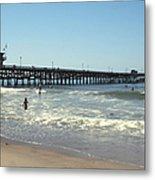 Beach View With Pier 2 Metal Print by Ben and Raisa Gertsberg