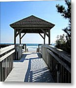 Beach Walk Metal Print by Silvie Kendall