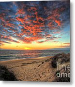 Beachcombers Sunset Metal Print by English Landscapes