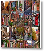 Beacon Hill - Poster Metal Print by Joann Vitali