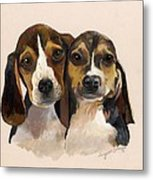 Beagle Babies Metal Print by Suzanne Schaefer