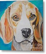 Beagle Metal Print by PainterArtist FIN