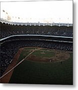Beautiful Right Field View Of Old Yankee Stadium Metal Print by Retro Images Archive