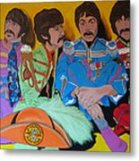 Beatles-lonely Hearts Club Band Metal Print by Bill Manson