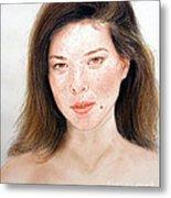 Beautiful Actress Jeananne Goossen Metal Print by Jim Fitzpatrick