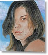 Beautiful And Sexy Actress Jeananne Goossen IIi Altered Version Metal Print by Jim Fitzpatrick