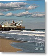 Beautiful Day At The Beach Metal Print by Sami Martin