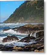 Beauty Of Oregon Coast Metal Print by Denise Darby