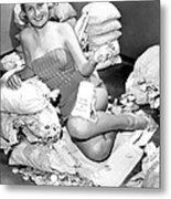 Beauty Surrounded By Money Metal Print by Retro Images Archive