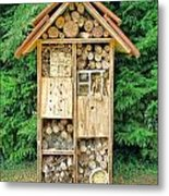 Bee House Metal Print by Olivier Le Queinec