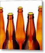 Beer Bottles Metal Print by Jim Hughes