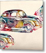 Beetle Car Metal Print by Mark Ashkenazi
