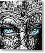 Behind Blue Eyes Metal Print by Mo T