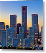 Beijing Central Business District Metal Print by Fototrav Print