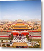 Beijing Forbidden City Skyline Metal Print by Colin and Linda McKie