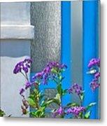 Belmont Shore Blue Metal Print by Gwyn Newcombe