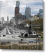 Ben Franklin Parkway Metal Print by Eric Nagy