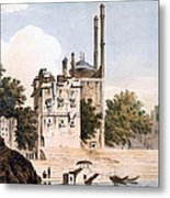 Benares On The Ganges Metal Print by William Hodges