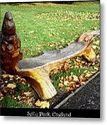 Bench 15 Metal Print by Roberto Alamino