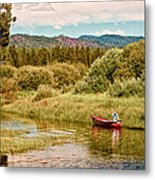 Bend/sunriver Thousand Trails Metal Print by Bob and Nadine Johnston