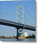 Benjamin Franklin Bridge Metal Print by Sonali Gangane