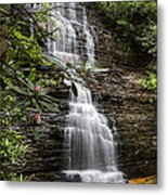 Benton Falls Metal Print by Debra and Dave Vanderlaan