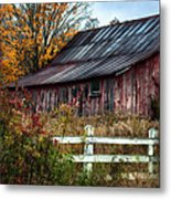 Berkshire Autumn - Old Barn Series   Metal Print by Thomas Schoeller