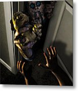 Beware Zombies Bearing Gifts Metal Print by Randy Turnbow