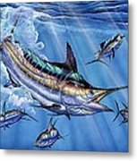 Big Blue And Tuna Metal Print by Terry Fox