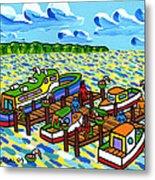 Big Dock - Cedar Key Metal Print by Mike Segal