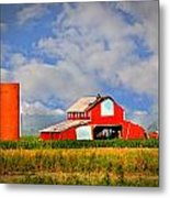 Big Red Barn Metal Print by Marty Koch