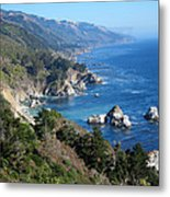 Big Sur Coast Ca Metal Print by Debra Thompson