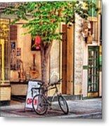 Bike - The Music Store Metal Print by Mike Savad