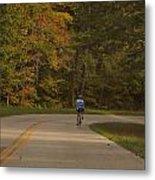 Biking In The Smoky Mountains Metal Print by Dan Sproul