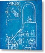 Bird Respirator Patent Art 1962 Blueprint Metal Print by Ian Monk