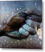 Birdie Paintress Metal Print by Barbara Orenya