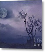 Birds In The Night Metal Print by Darren Fisher