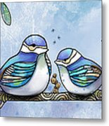 Birds Of Blue Metal Print by Karin Taylor
