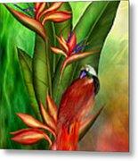 Birds Of Paradise Metal Print by Carol Cavalaris