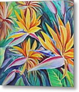 Birds Of Paradise Metal Print by Summer Celeste