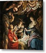 Birth Of Christ Adoration Of The Shepherds Metal Print by Peter Paul Rubens