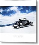 Black And Blue Metal Print by Holly Martin