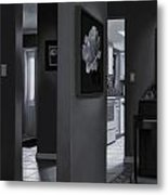 Black And White Foyer Metal Print by Tony Chimento