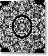 Black And White Medallion 10 Metal Print by Angelina Vick